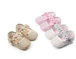 Wholesale Cheap Baby Girls Sandals - 2017 spring summer girls toddler shoes,summer hollow sequined princess sandals,soft flowers baby shoes,cheap kids shoes!12pairs 24pcs.ZH