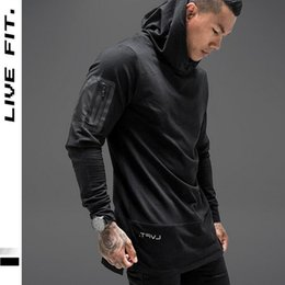 Wholesale Topcoat Hoodie - Wholesale- 2017 spring new Men Hoodies Fashion personality Sweatshirt Brand men's clothing Casual pullover Hooded jacket Streetwear topcoat