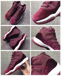 entraîneur de chaussures de basket-ball rétro Promotion 2017 New Air Retro 11 GS Velvet