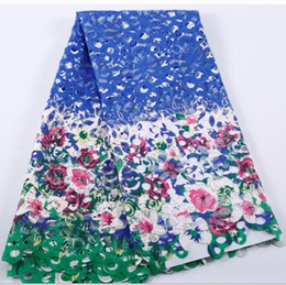 Wholesale Nylon Fabric Yard - Brand New Hot Sales African Water Soluble Swiss Voile Flower Lace Fabric,Free Shipping(5 yards pack) African Wedding Party Dry Lace Clothes