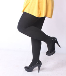 Wholesale Wholesale Large Women Tights - Wholesale- Good elasticity King size Womens Autumn and winter Black Skin tights Large size pantyhose for fat people