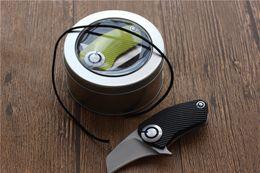 Wholesale benchmade mini knife - Mini Parrot SiDis folding knife 9Cr18MoV blade Titanium Handle Flipper bearing Tactical knife Pocket fast open Hunting Knife Survival Knives