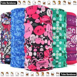 Wholesale knitted spring scarves - 1pc lot Retail Top Fashion Multi Purpose Microfiber Outdoor Sport Ladies Headbands Neck Scarf Multifunction Tubular Seamless Headwear