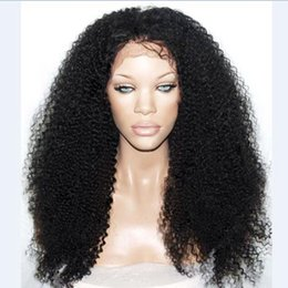 Wholesale Afro Kinky Curl Glueless - 1b#2#613#27# Afro Curl Kinky Curly Synthetic Lace Front Wig Long Black Hair Heat Resistant Glueless Wigs Free Part Black Wome