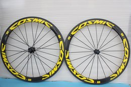 Wholesale Road Bike Wheel Decal Stickers - Full carbon road bike wheels Wheelset yellow decal stickers full black 3K UD glossy matte finish 50mm original brand available