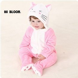 Wholesale Totoro Halloween Costume - New Year Gift Baby Clothing Winter Lovely Long Sleeve Infant Onesie Doraemon Kitty Cat Totoro Costumes Soft Baby Jumpsuits Set Rompers