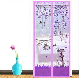 Wholesale Mosquito Magnetic - Magnetic Screen Door Curtain Window Anti Mosquito Bedroom High Grade Magnet Soft Scenery Curtain Living Room Sheer Curtains Flies