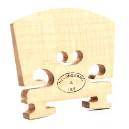Wholesale Wood Parting Tool - Wholesale- 2016 New Violin Bridges Fiddle Old Flamed Maple Wood 1 8 Size Instrument Accessories Violino Bridge Parts Tools Perfect Shape