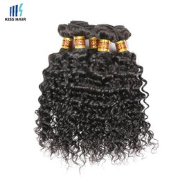 Wholesale Deep Wave Perm - 5 Bundles Wholesale Deep Wave Curly Virgin Hair Extension Natural Black 2 4 Brown Brazilian Peruvian Malaysian Indian Remy Human Hair Weave