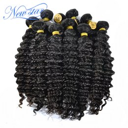 Wholesale New Star Brazilian Hair - Wholesale-new star 10bundle brazilian virgin human hair extension weaves deep wave wavy 100% natural color big curls wholesale price