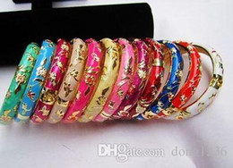 Wholesale Yellow Gold Cross Bracelet - Chinese Handmade Cloisonne Enamel Flower Bracelet 12pc