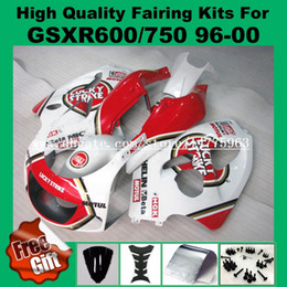 Wholesale Lucky Strike 96 Gsxr - 9Gifts fairing kit for SUZUKI GSX R600 750 1996 1997 1998 1999 2000 GSX-R600 GSX-R750 96 97 98 99 00 GSXR 750 600 Fairings LUCKY STRIKE red