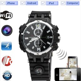 Wholesale Spy Watches 8gb Motion Detection - 8GB 720P Wireless WIFI Spy Hidden Camera Watch Video Recorder DVR HD Pinhole Hidden Cam Camcorder with Motion Detection IR Night Vision
