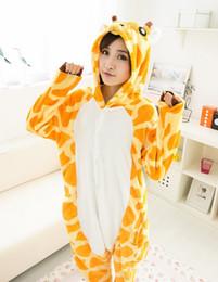 Wholesale Giraffe Pyjamas - Wholesale- New Japan Animal Giraffe Onesie Fashion Casual Long Sleeve Pyjamas Cosplay Costume