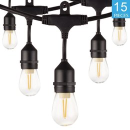 vintage outdoor lighting wall mount outdoor string lights 49ft weatherproof lights connectable 15 led e26 edison vintage bulbs energy saving decorative for bistr vintage outdoor discount 2018