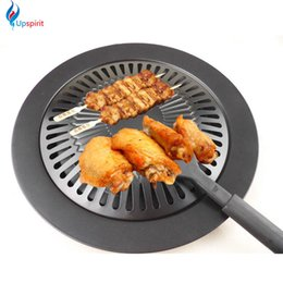 Wholesale Iron Fry Pans - New Cooking Tools Non -Stick Gas Grill Pan Refined Iron Black Barbecue Bbq Frying Roasting Pans Outdoor Saucepan Panela Sartenes