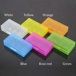 Wholesale Safety Case Box - Portable Carrying Box 18650 Battery Case Storage Acrylic Box Colorful Plastic Safety Box for 18650 Battery and 16340 Battery(6 color)