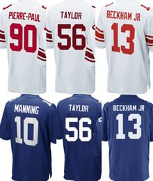 Wholesale Eli Manning Jersey Xl - 2017 White Blue New Youth Kids Rugby 13 Odell Beckham Jr 10 Eli Manning 90 Pierre-Paul 56 Lawrence Taylor jerseys