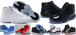 Wholesale Blue Tassels - Cheap 11 Concord Bred Legend Blue Gamma Blue Space Jam 11 Basketball Shoes Men Women Chicago Gym Red 11s Sneakers With Box 36-47