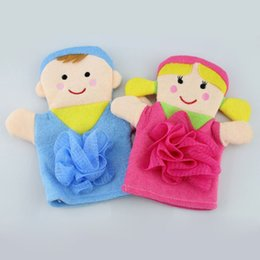 Wholesale Cute Boys Bath - Kid Bath Glove Cartoon Boy Girl Scrub Brush Sponge Super Soft Cute Baby Shower Bathing Towel Bathroom Mitt ZA3577