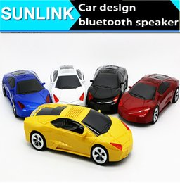 Wholesale Loud Bluetooth Speaker Ipad - Super Cool car speakers Top Quality Car Shape mini bluetooth Speaker Portable Loud speakers Sound Box for iPhone IPAD PC with package DHL