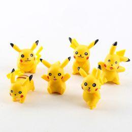 Wholesale Pokemon Figure Collection - 6pcs set 3cm Poke Center Pikachu Figures Mini PVC Action Figure Model Toys Doll For Collection