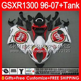 Wholesale Lucky Strike 96 Gsxr - 8Gifts 23Colors For SUZUKI Hayabusa GSXR1300 96 07 1996 1997 1998 Lucky Strike 15NO83 GSXR 1300 GSXR-1300 GSX R1300 1999 2000 2001 Fairing