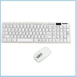 2019 tastiera di windows xp 10pcs Mini Ultra Slim Wireless 2.4 GHz tastiera e mouse Kit per PC desktop portatile in bianco e nero opzione con pacchetto di vendita