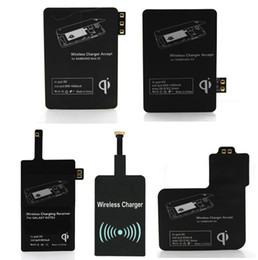 Wholesale Galaxy S3 Qi Charger - 2017 Qi Charger wireless Receiver Wireless Charging For Samsung Galaxy S3 S4 S5 NOTE2 NOTE3 NOTE4 type-c iphone 5 6 iphone 7 plus