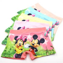 Wholesale Miki Red - 5Pcs Lot Cartoon MIKI Baby Boxer Kids Underware Soft Cotton Children's Girls Underwear Girls Pants Underpants Briefs 3-10 Year