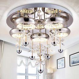 Wholesale Domestic Lamp - Hallway bedrrom Crystal Led Domestic Light Living Room lamp Modern Bedroom Lamp Room Lamp Round Ceiling Light porch Light Fixture