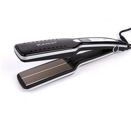 Wholesale Ceramic Coated Curling Iron - kemei KM-8817 styling tools professional flat iron pranchas de cabelo curling irons straightening Iron hair straightener