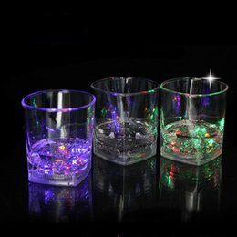Wholesale Lead Shot Wholesale - Small Shot LED Flashing Beer Glasses Shot Glasses Luminous Liquor Glasses Birthday Party Cup Chirstmas Halloween Gift