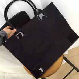 Wholesale Patent Leather Tote Handbags - high quality women shoulder bag Ella tote purse nylon handbag for traval
