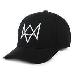 Wholesale Wholesale Hats Watch - Wholesale- 2017 New Watch Dogs Aiden MASK Baseball Caps hiphop caps Cosplay snapback Hat Mens 6 Panel Tactique casquette gorras Cotton
