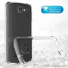Wholesale Lg Optimus Plastic Cover - Hybrid Acrylic Scratch-resistant Bumper Case Shockproof Transparent Customized Case Cover For LG Stylus 2 2 plus MS550 3 Stylo 3 Optimus Zon