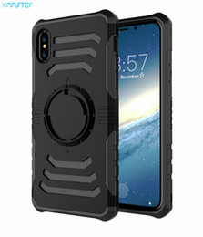 Wholesale Mobile Cover Magnet - for iPhone X 8 7 Outdoor Sports Running Armband Mobile Back Cover for Samsung Note8 S8 S8plus Magnet Suckers Full Cover Phone Shell