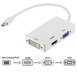 Wholesale Apple Mini Displayport Vga - High quality 3 in 1 Displayport MINI DP to HDMI DVI VGA Converter Adapter Cable for PC Laptop Apple Macbook