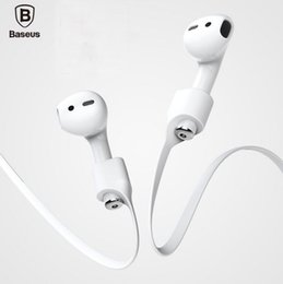 Wholesale Transparent Earphones - Earphone Strap Anti-Lost String Rope With Magnetic For iPhone Airpods iPhone 7 Twins True Wireless Headset Silicone Airpod Protective Strap