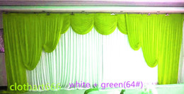 Wholesale background yellow - 3M*6M backdrop with swags party background valance wedding backcloth stage curtain 3*6m (10ft*20ft) funeral backdrop church Stage
