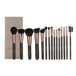 Wholesale Make Up Brush Set 15pcs - 2017 New Arrivals Attractive Sixplus Coffee Color Luxury Style Makeup Brush 15pcs Professional Make Up Brush Set