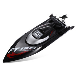Wholesale H Boat - Original Feilun Brushless Motor 4CH RC Boat Water Cooling High Speed Racing RC Boat 45KM H RTF 2.4GHz Racing Boat