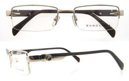 Wholesale Half Frame Nerd Glasses - Metal Half Rim Spectacle Frame Eyeglasses Men Computer Optical Eye Glasses Frame For Male Transparent Clear Lens Armacao Oculos de P1106