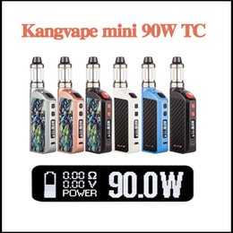 Wholesale Electronice Cigarette - Authentic Kangvape mini 90w TC kit Electronice Cigarette Mod kit fit 18650 battery vs iStick Pico DHL free