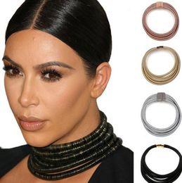 Wholesale Boho Statement Necklace - New Same Design Kim Kardashian Collar Choker Necklaces For Women Statement Jewelry Maxi Necklaces Boho Accessories