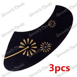 Wholesale Guitar Accessories - Ukulele Pickguard Pick Guard Anti-scratch Plate with Dandelion Pattern guitar accessories Musical instrument 3pcs