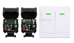 Wholesale Digital Wireless Control Switch - Wholesale- New digital Remote Control Switch AC220V 2* Receiver Wall Transmitter Wireless Power Switch 315MHZ Radio Controlled Switch Relay