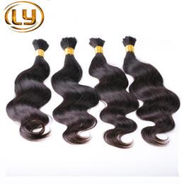 7A высокое качество необработанные Микро Мини плетение Навальные волосы нет крепления перуанский объемная Волна 3 шт. человека плетение Навальные волосы смешанные длина от