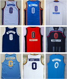 Wholesale Shirts For Men Classic - A+++ basketball jerseys Russell 0 Westbrook embroidered SW jersey classic colleage jersey MVP candidate shirt 2017 all star for mens