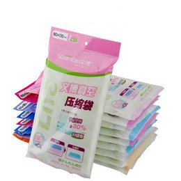 Wholesale Full Foods - 5 Sizes Space Saver Saving Storage Seal Vacuum Bags Compressed Organizer Full Size Free Shipping